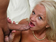 Thick, mature granny Shery has been downing cocktails and teasing her younger bodyguard, ...
