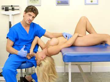 Effective blonde Parker Swayze gets her pussy and ass checked out by doctor Bruce Venture