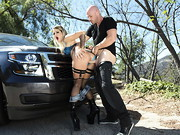 Officer Johnny Sins and his partner have just busted sexy street hooker Kissa Sins, who by ...