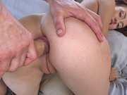 Perfectly-shaped Mandy Muse's ass hole enfolds fast dick outdoors