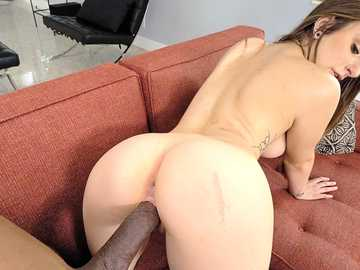 Big black penis penetrates Penelope Kay's pussy from behind after she rides it