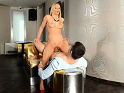 Kiara is back for more. This time our favorite blonde bombshell gets naughty in a bar, ...