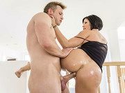 How many fingers can Bill slip into Shay Fox's big wet ass? With a thick and juicy MILF ...