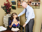 Johnny Sins arrives for his job interview, but is quickly distracted by the busty ...