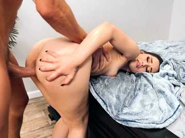 Oriental love Aria Lee is bonked from behind and in mouth by stepbrother