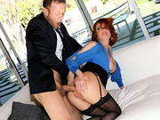 When suave Italian stud Rocco Siffredi meets mature redhead Veronica Avluv, he can't keep ...