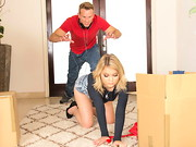 Bill Bailey has come home to find his girlfriends sister Dakota Skye packing up half the ...