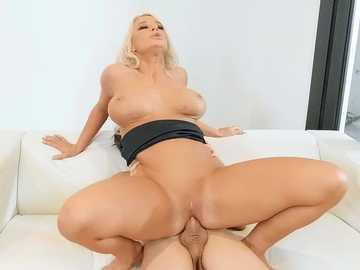 Horny MILF London River uses cock of young stepson to feed her sexual hunger