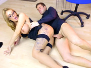 Sexpot Stacey Saran takes hard piston of her new employee during the job interview
