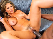 Yummy slut Reena Sky strips her hairy cunt naked for black beast Lexington Steele