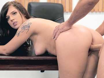 Hot fucking during the interview with brunette Scarlett Mae