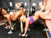 The instant Johnny walked into his new gym, a squad of four latina girls started whispering ...