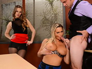 Abbey Brooks is accompanying her stepdaughter Jillian Janson to a job interview, and that sexy ...