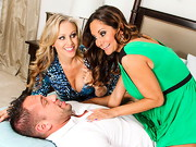 Ava Addams & Julia Ann try to scam the insurance adjuster, but he's too smart to fall ...