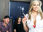 Danny D takes his girlfriend to the doctors office for a check-up, where a sexy nurse (Julia ...