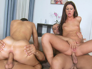 Fine european sluts Regina and Lauren enjoying in dirty anal sex