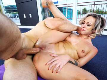Jada Stevens meets horny JMac for hardcore pussy fucking at a yoga workout